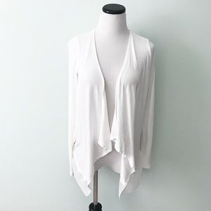 THE LIMITED White asymmetrical open front Sweater